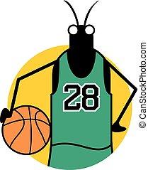 basket insect illustration