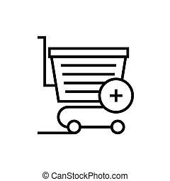 Basket line icon, concept sign, outline vector illustration, linear symbol.
