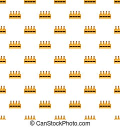 Basket of bottle beer pattern seamless