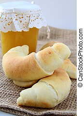 basket of fresh croissants