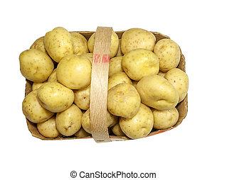 Basket of fresh Potatoes