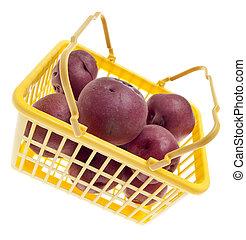 Basket of Fresh Red Potatoes