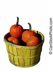 Basket of Haloween Pumpkins