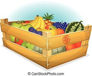 Basket Of Healthy Organic Fruits