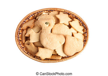 Basket of homemade cookies