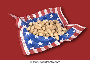 Basket of July fourth peanuts