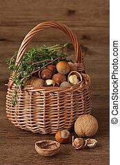 Basket of nuts.