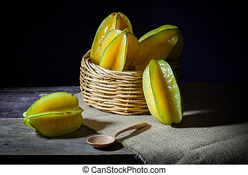 Basket of Star fruit