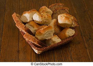 Basket of variety bread