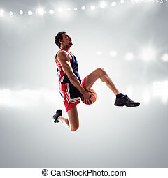 Basket player at the stadium