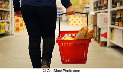 Basket products supermarket