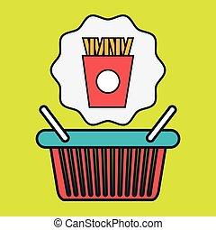 basket shop market icon