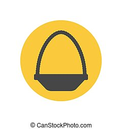 Basket silhouette icon