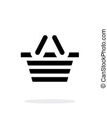 Basket simple icon on white background.