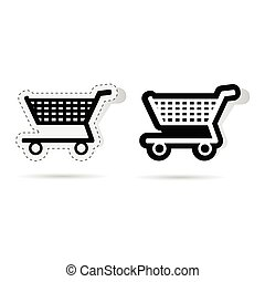 basket sticker vector illustration