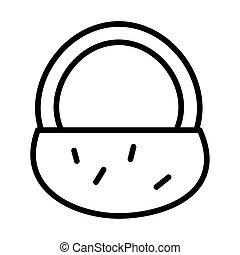 basket straw line style icon