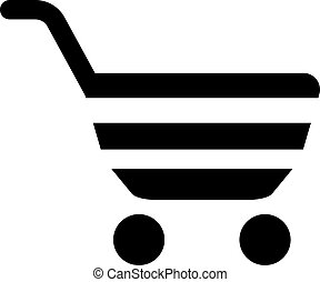 basket vector icon. Illustration isolated for graphic and web design.