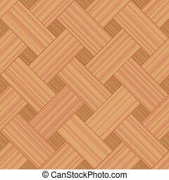 Basket Weave Parquet Wooden Background Pattern - Basket...