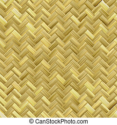 Basket Weave Pattern - A yellow woven wicker material you...
