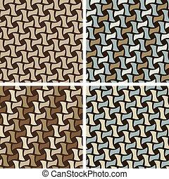 Basket Weave Pattern - Seamless Basket Weave Pattern set.