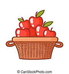 Basket with apples.