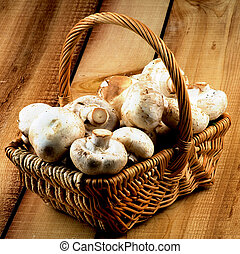 Basket with Champignons