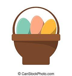 basket with easter egg