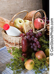 Basket with food