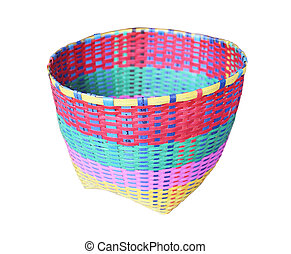 basket with isolated on white background