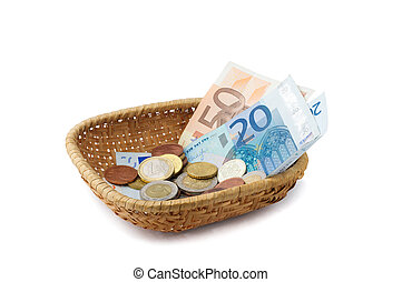 Basket with Money