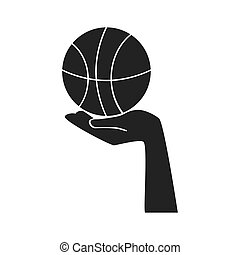 basketbal bal, hand