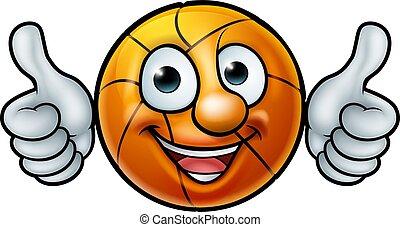basketbal bal, mascotte