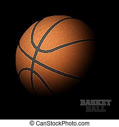 basketbal, black