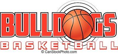 basketbal, bulldogs, ontwerp