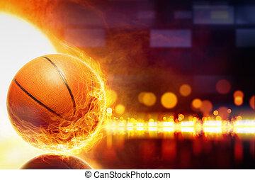 basketbal, burning
