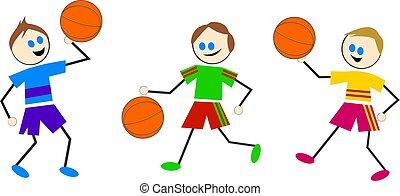 basketbal, geitjes