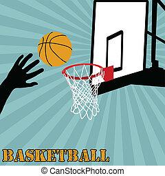 basketbal, grit, bal
