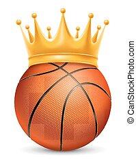 basketbal, kroon, bal