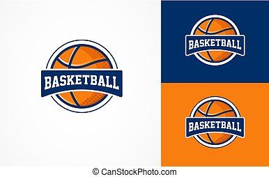basketbal, logo, amerikaan, sporten, symbool, en, pictogram