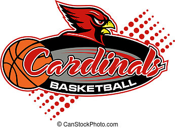 basketbal, ontwerp, kardinalen