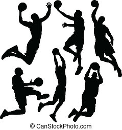 basketbal, silhouette