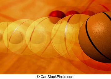 basketbal, sportende, bal