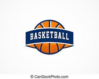 basketbal, symbool, sporten, amerikaan, logo, pictogram