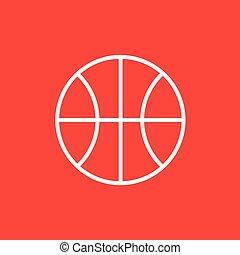 basketball μπάλα , γραμμή , icon.