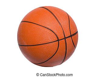 basketball 3 - a closeup of a basketball over white