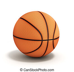 basketball 3d render on a white background