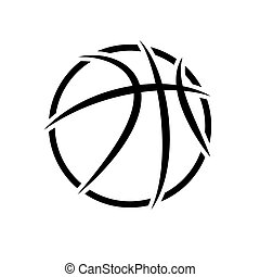 Basketball abstract symbol outline background