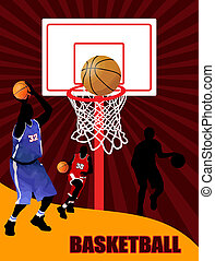 Basketball Advertising poster