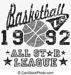 Basketball all star league artwork