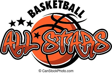 basketball all stars team design for school, college or league